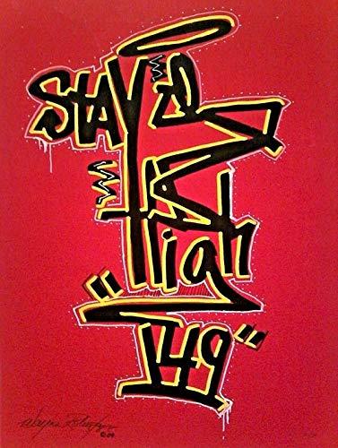 StandardPictureFrames 2009 STAYHIGH 149 Stick Figure TAG NYC Graffiti Legend A/P Hand Work Silkscreen
