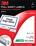 3M Full Sheet Copier Labels for Copier/Laser Printers Review and Comparison