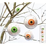 Set of 4 Halloween Eyeball Hanging Ornaments