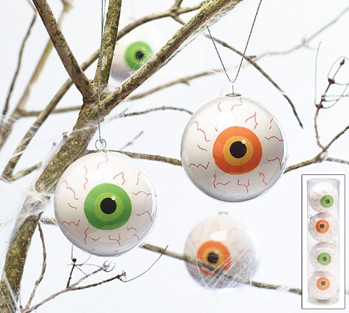 Set of 4 Halloween Eyeball Hanging Ornaments (Tree Eyes Halloween)