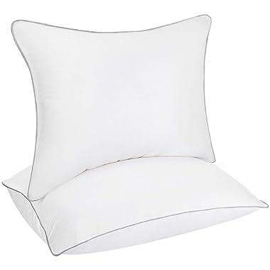 Utopia Bedding 2 Pack Down Alternative Bed Pillows for Sleeping - Premium Fiber Filled Pillow - Queen