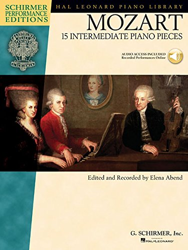 Mozart - 15 Intermediate Piano Pieces (Schirmer Performance Editions) (Tapa Blanda)