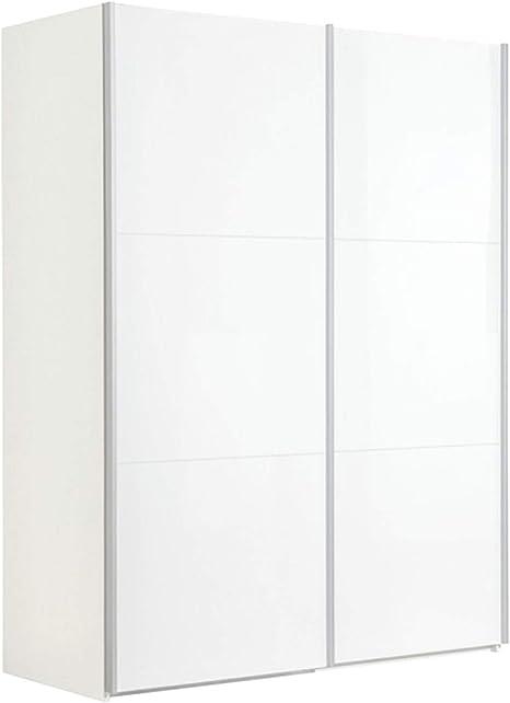Armario de dos puertas correderas color blanco lacado blanco brillante: Amazon.es: Juguetes y juegos