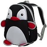 KingMountain Kid Backpack 3D, Baby Boys Girls Toddler Pre School Backpack Children Backpacks Bags (Black)