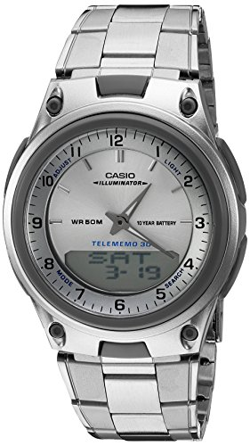 Casio Men's AW80D-7A Sports Chronograph Alarm 10-Year Battery Databank Watch ()
