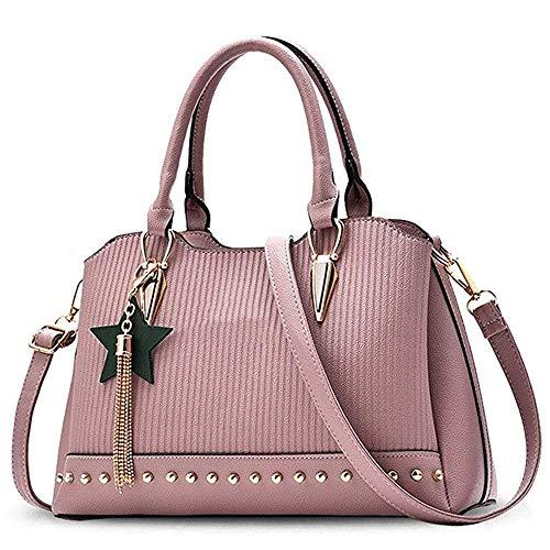 Borsa Tracolla In Pink Mano Donna Blu Nero Stile A colore Da Nappa Pelle Mlpus Pu Americano dqYxEwE