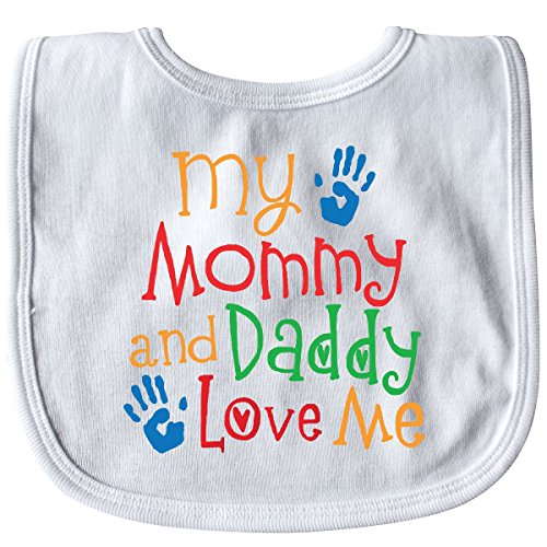 Inktastic - Mommy and Daddy Love Me Baby Bib White 30afc