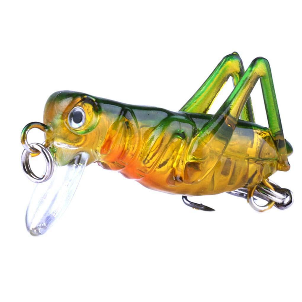 3g colorato Vivid Forma Cricket Fishing Lure Locust Artificiale Lago Fiume Esca per la Pesca Provide The Best 3,5 Centimetri