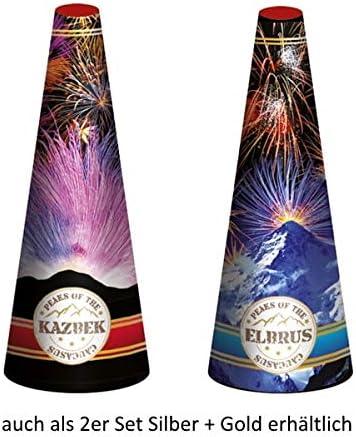2 x Grosser Gold-Color Vulkan Font/äne Eisfont/äne Silberfont/äne Eissterne Traumsterne Funkenregen Silvester Party Feuerwerk