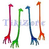 20 Giraffe Cocktail Drink Stirrers - Safari Swizzle Sticks