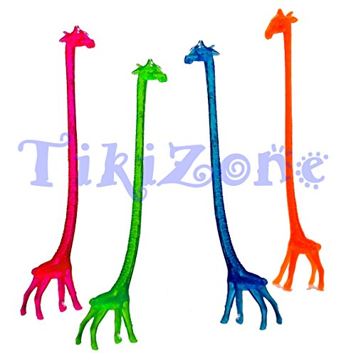 20 Giraffe Cocktail Drink Stirrers - Safari Swizzle -