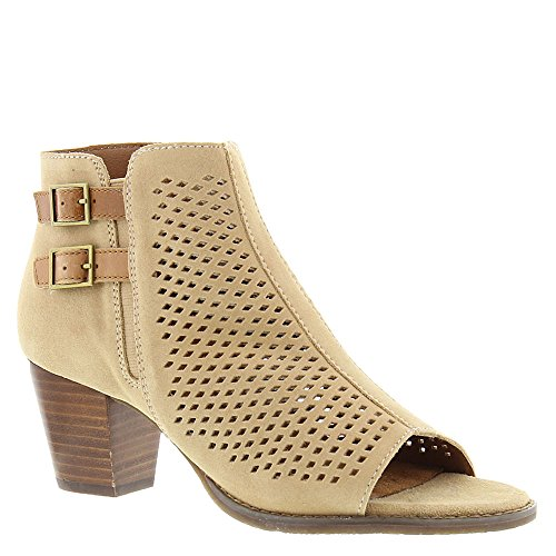Vionic Women's Chryssa Open Toe Bootie Light Sand 9.5 M by Vionic