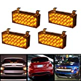 DLLL Amber 88 LED Emergency Motorcycle Car Truck SUV Front Grille/Deck Flashing Emergency Warning Auto Lamp Strobe Light Bar with Mounting Bracket+Control Module Review