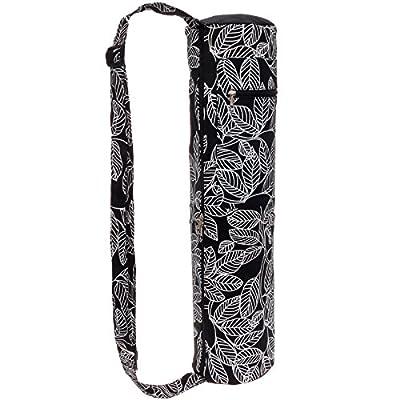 Lightweight Eco Friendly Yoga Mat Bag - Full Zip Yoga Tote w/ Storage Pocket by LISH
