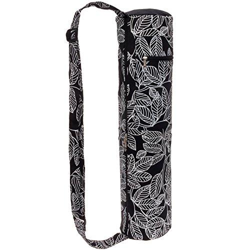 Lightweight Eco Friendly Yoga Mat Bag Full Zip Yoga Tote w/ Storage Pocket by LISH