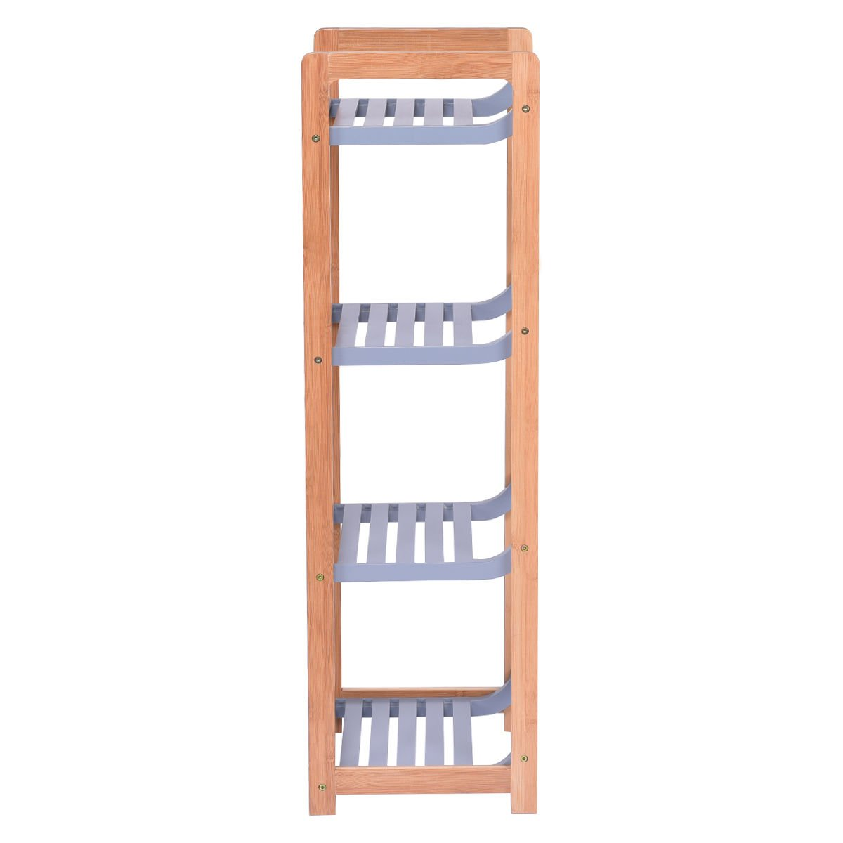 totoshop Multifunction Storage Tower Rack Shelving Shelf Units Stand Bamboo New 4 Tier by totoshop (Image #4)
