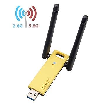 LKW Adaptador inalámbrico USB WiFi, Tarjeta de Red ...