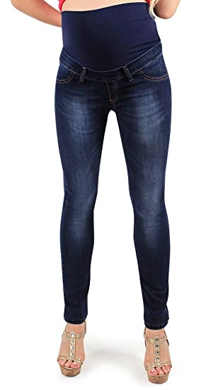 56684f279601c Maternity Jeggings Deluxe Wash, Skinny Fit. Power Stretch Fabric for Great  Comfort During Pregnancy and Beyond- Made in Italy: Amazon.co.uk: Clothing