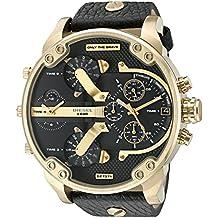 Diesel Mr. Daddy Analog Quartz  2.0 Two Hand Leather Watch
