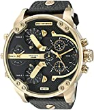 Diesel Mr. Daddy Analog Quartz  2.0 Two Hand Leather Watch