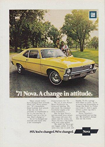 A change in attitude - Chevrolet Nova Coupe ad 1971 -