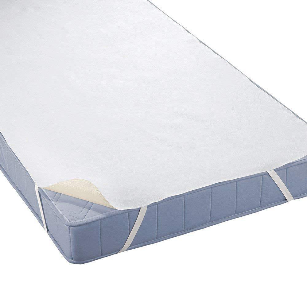 Beautissu Coprimaterasso impermeabile singolo BEAUTECT 70x140cm - protezione salvamaterasso in cotone per letti