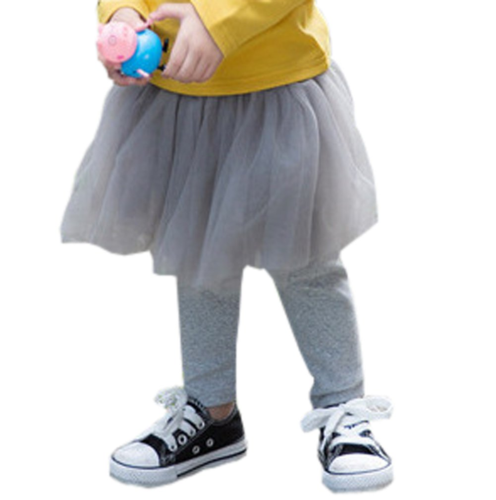 af5909f51 Imcute Kids Baby Girls Cotton Tutu Skirt Leggings Tights Pants One Piece  (5-6 Years, Grey)