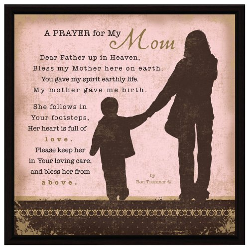 Mom Prayer Wood Framed Plaque Inspiring Quote 7.5