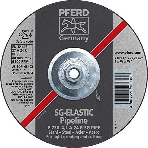 PFERD 63404 9'' x 1/8'' Pipeline Wheel, 5/8-11 Thd. (4.1mm) A 24 R SG-PIPE - (10 Pack)