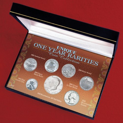 American Coin Treasures Genuine US Coin Collection (7 Pieces) - Elegant American Coins for a True Collector - Unique 1 Year Rarities with Certificate of - Coins Moenich Collectibles &