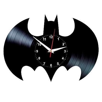 f560b2e21046 Amazon.com  Queen Clocks Batman Symbol Wall Clock - Unique Vinyl ...