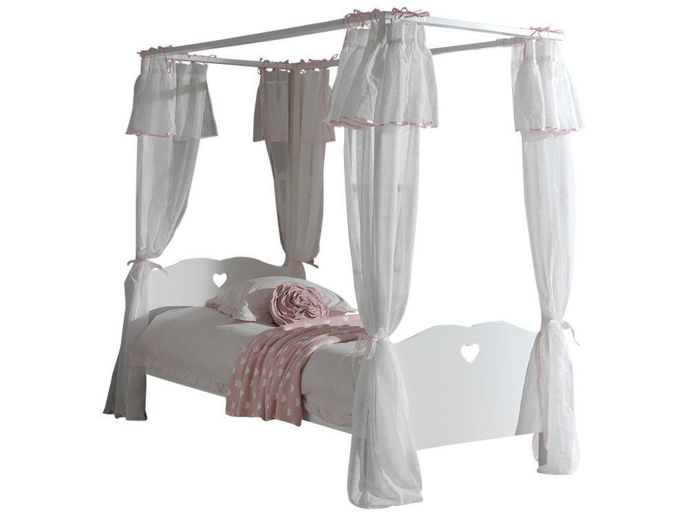 VIPACK Textilset für Himmelbett Amori, weiß