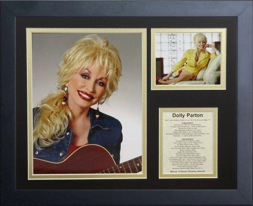 """Legenden Sterben Nie gerahmtes Foto Collage, 11 x 35,6 cm """"Dolly Parton von Legends Never Die"""