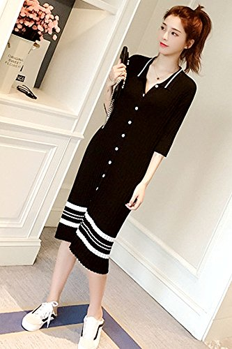 33c1232e3b6 Amazon.com   2018 summer new Korean striped dress Girls long paragraph knee  knit shirt dress shirt tide for women girl   Beauty