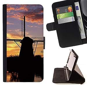 For HTC DESIRE 816 Case , Naturaleza Summer Sun Sunset Lake- la tarjeta de Crédito Slots PU Funda de cuero Monedero caso cubierta de piel