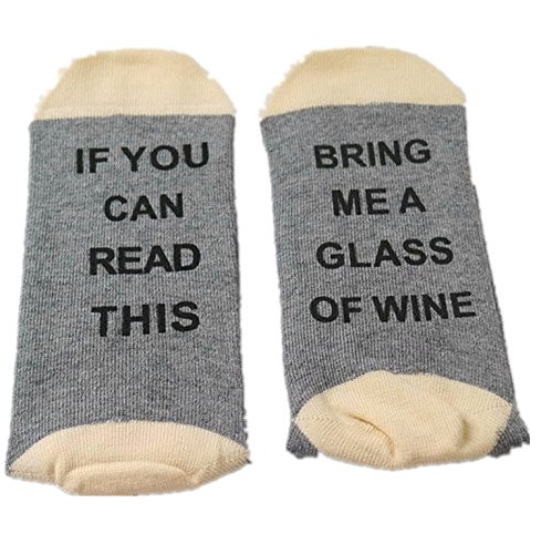 Price comparison product image Easyhon Christmas Unisex wine full Xmas If You can read this Socks (One Size, Dark Gray-1)