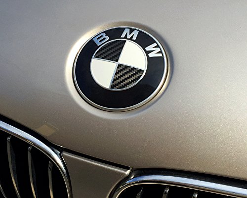 (Carbon Fiber Vinyl fits BMW roundels - Fits almost all BMWs - by Air Advance)