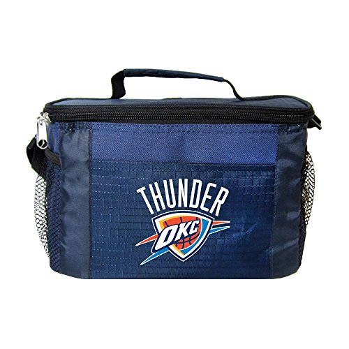 NBA Oklahoma City Thunder Insulated Lunch Cooler Bag with Zipper Closure, Navy by Kolder
