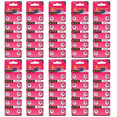 AG4 1.55V Cell Button Battery (100-Pack) + Worldwide free shiping
