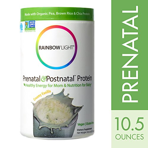 Rainbow Light - Prenatal & Postnatal Protein, Creamy Vanilla, 10.5 oz Tub, Healthy Energy, Gluten Free and (Rainbow Pumpkin)