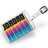 Luggage Tag Retro Cites States Countries Jordan - NEONBLOND