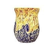 COOSA Ocean Wave Glass Electric Oil Warmer Wax Tart Burner Night Light Gift for Home Office Yoga