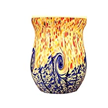 COOSA Ocean Wave Glass Electric Oil Warmer Wax Tart Burner Night Light Gift for Family (1 Multicolor)