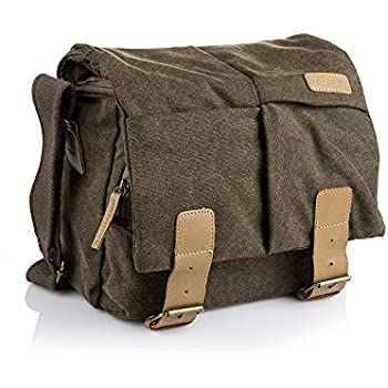 Amazon.com: S-ZONE Vintage Canvas Leather Trim DSLR SLR Camera ...