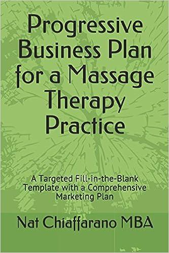 Progressive Business Plan For A Massage Therapy Practice A - Massage therapy business plan template