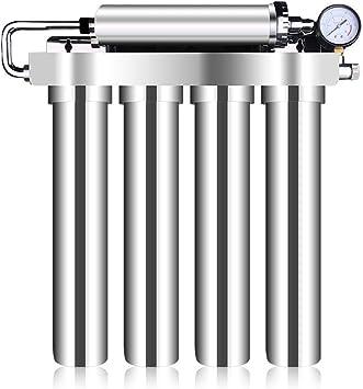 WLD Sistema de filtración de agua potable para uso doméstico, filtro purificador de agua para eliminar impurezas en el agua, elemento de filtro de cerámica Dispositivo de filtro purificador de agua d: