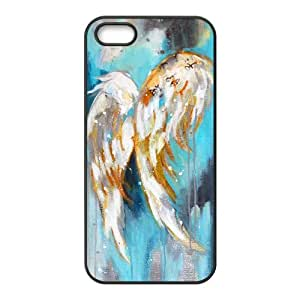 IPhone 5,5S Cases Acrylic Angel Wings Cute for Girls, Iphone 5s Cases for Teen Girls Sexyass, {Black}