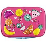 Colorful Fruits School Girls Toddler Hardtop Pencil Case Holder
