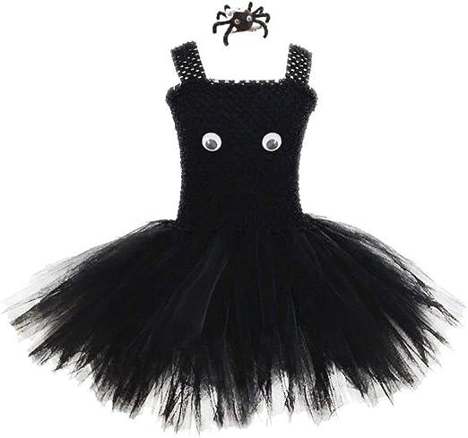 Amosfun Falda de tutú de Halloween para niñas con Pinza de Pelo de ...