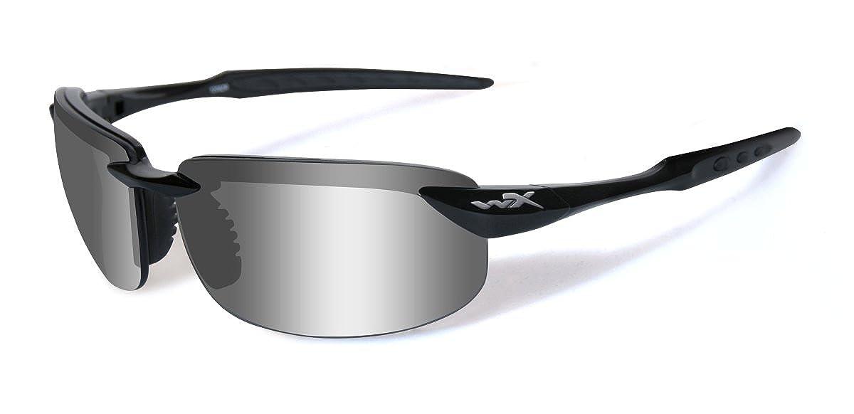 2d81bf43f830 Amazon.com: Wiley X Tobi Plrzd Smoke Grey Gloss: Sports & Outdoors